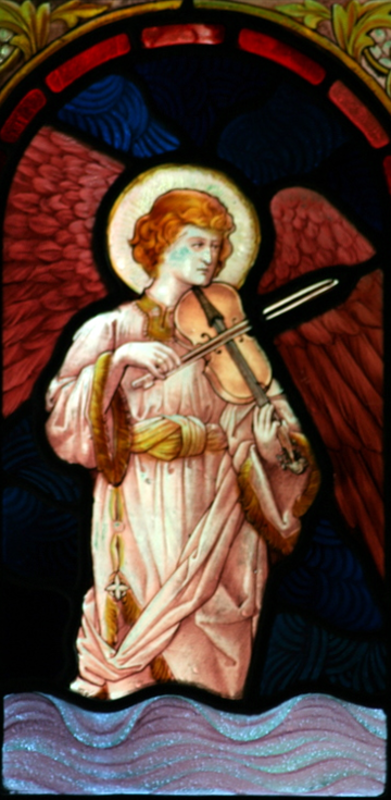Draynes angel with viol.